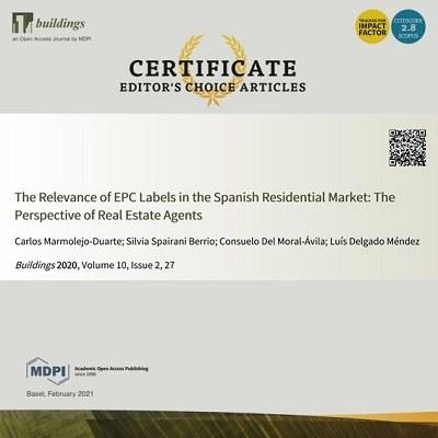 Article premiat en revista Buildings (MPDI), inclosa en SCIE