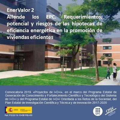 Concessió de finançament del projecte, de R+D+i, EnerValor2