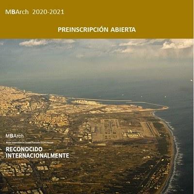 Preinscripció oberta MBArch-GVUA 2020-2021