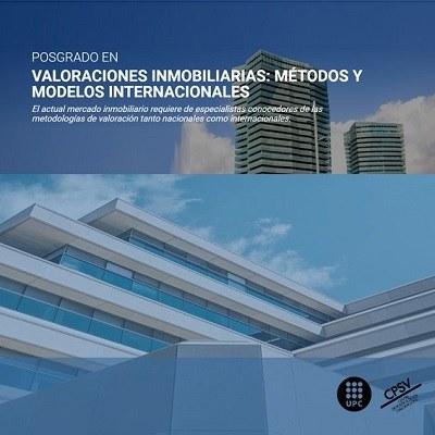 Postgrau online en Valoracions Immobiliàries: Mètodes i Models Internacionals