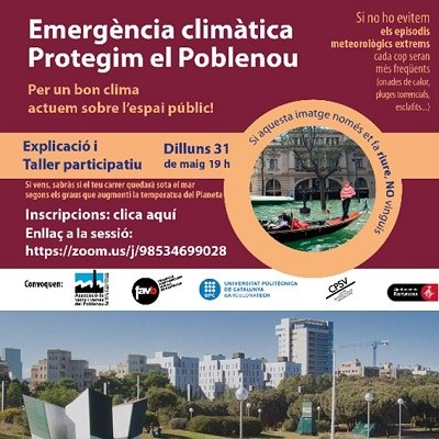 """DEBATE """"CLIMATE EMERGENCY-LET'S PROTECT THE POBLENOU"""""""