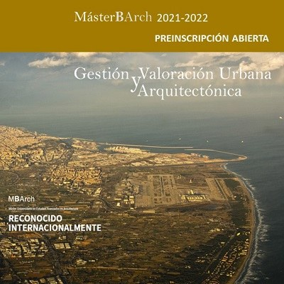 Preinscripción abierta GVUA-MBArch 2021-2022